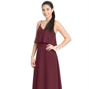 Azazie Cabernet Desiree Bridesmaid Dress - Size A6